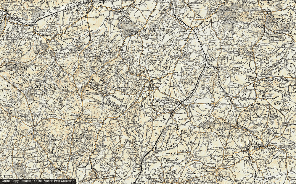 Old Map of Crowborough, 1898 in 1898