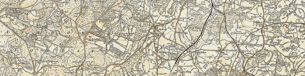 Old map of Crowborough in 1898