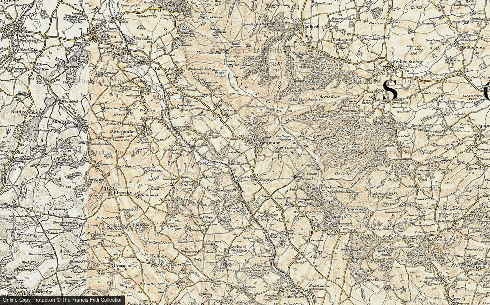 Old Map of Crowcombe, 1898-1900 in 1898-1900