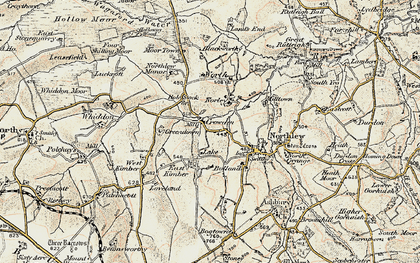 Old map of Worth in 1900