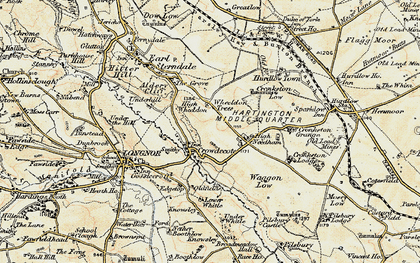 Old map of Wheeldon Trees in 1902-1903