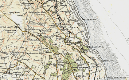 Old map of Wyke Lodge in 1903-1904