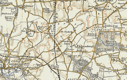 Old map of Wroxham Barns Craft Centre in 1901-1902