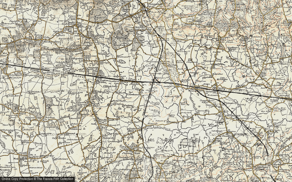 Old Map of Crowhurst, 1898-1902 in 1898-1902