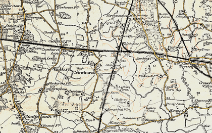 Old map of Crowhurst in 1898-1902