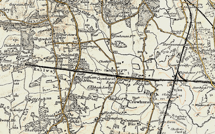 Old map of Crowhurst Lane End in 1898-1902
