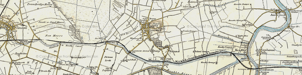 Old map of Crowle in 1903