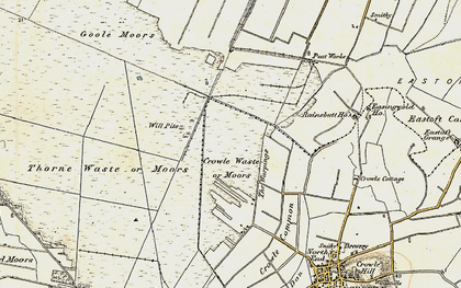 Old map of Crowle Waste in 1903