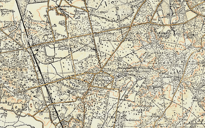 Old map of Crowthorne in 1897-1909