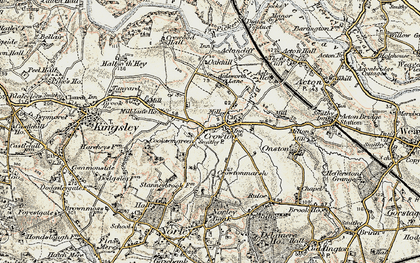 Old map of Crowton in 1902-1903