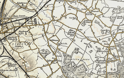 Old map of Croxteth in 1902-1903