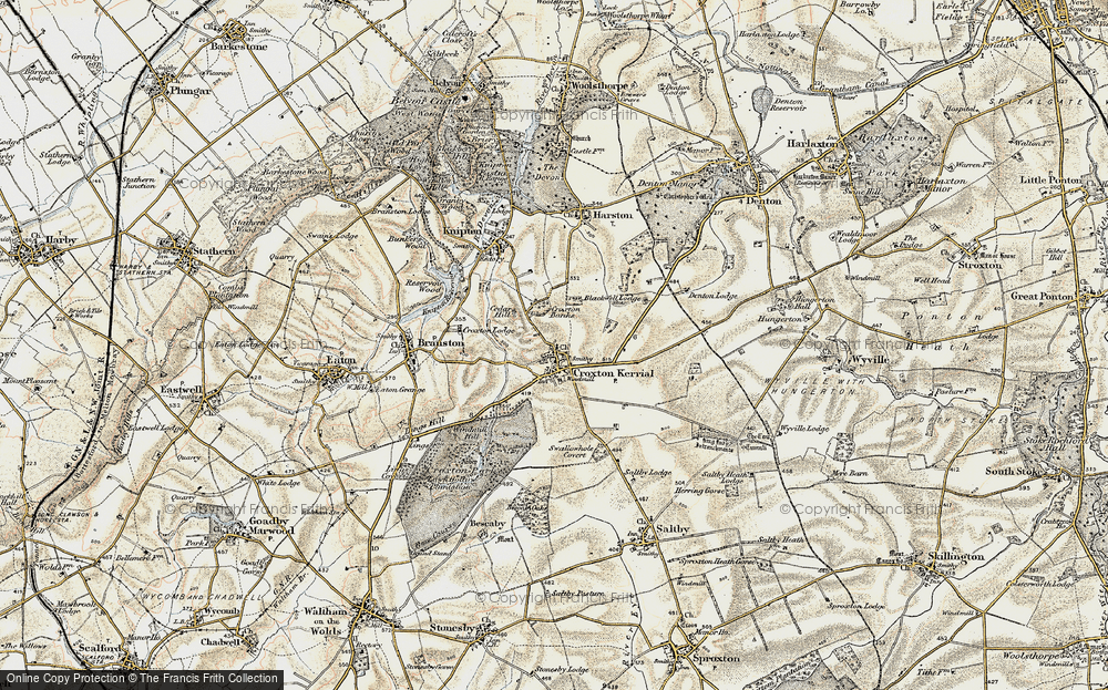 Old Map of Historic Map covering Tipping's Lodge in 1902-1903