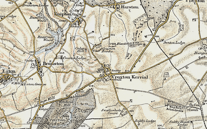 Old map of Tipping's Lodge in 1902-1903