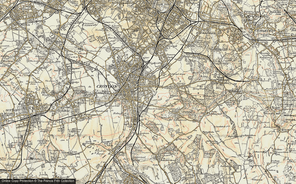 Old Map of Croydon, 1897-1902 in 1897-1902