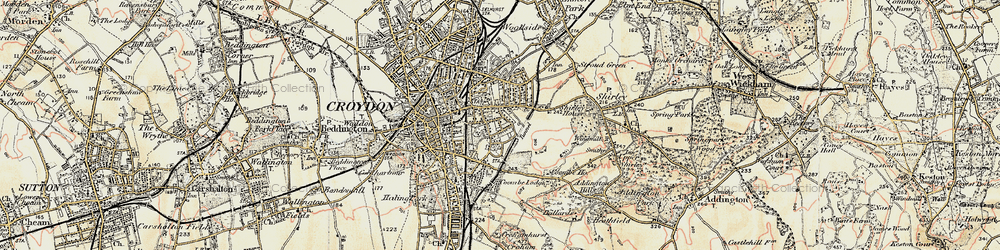 Old map of Croydon in 1897-1902