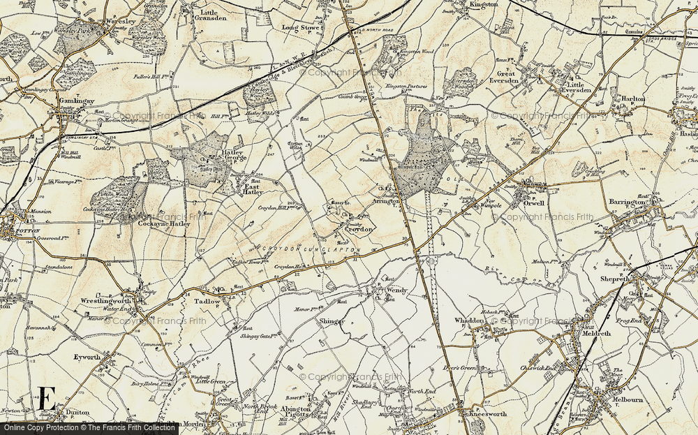 Old Map of Croydon, 1899-1901 in 1899-1901