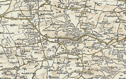 Old map of West Ruckham in 1899-1900