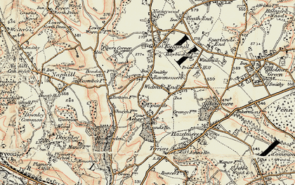 Old map of Cryers Hill in 1897-1898