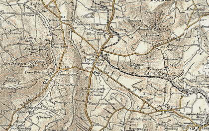 Old map of Crymych in 1901