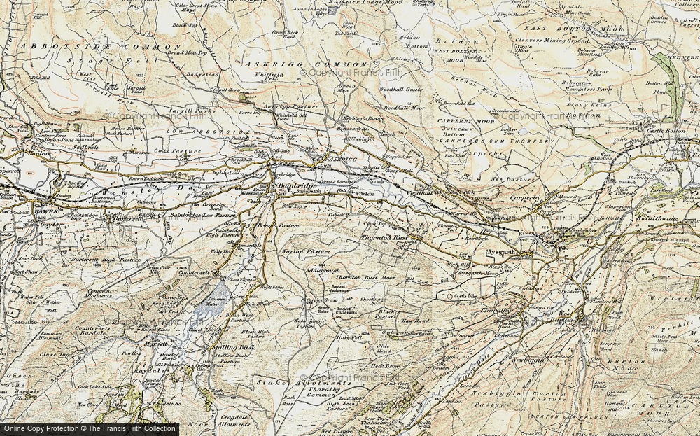 Old Map of Historic Map covering Addlebrough in 1903-1904