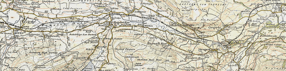 Old map of Addlebrough in 1903-1904