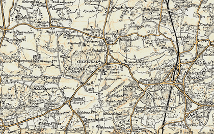 Old map of Cuckfield in 1898