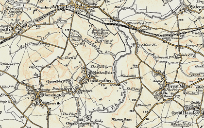 Old map of Cuddesdon in 1897-1899