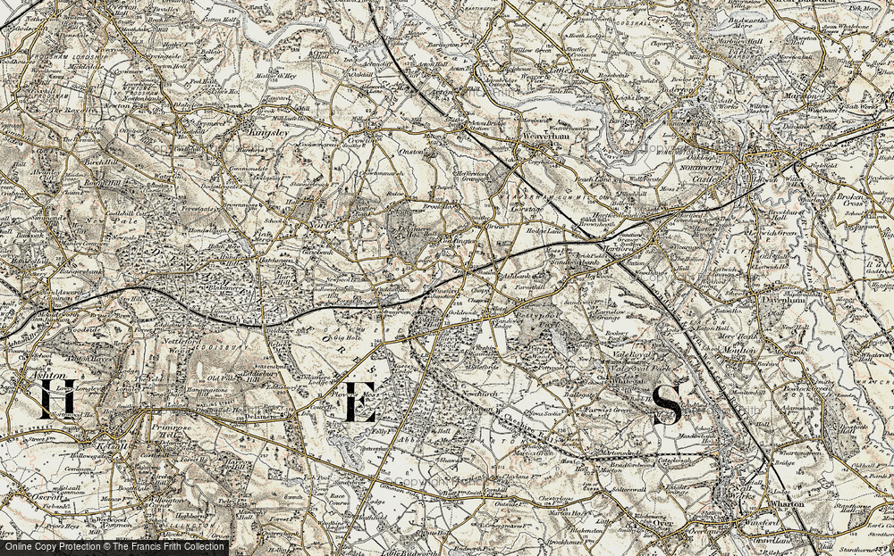 Old Map of Cuddington, 1902-1903 in 1902-1903