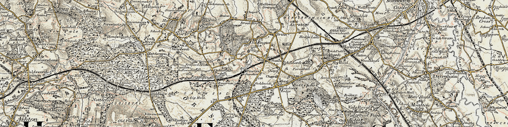 Old map of Cuddington in 1902-1903