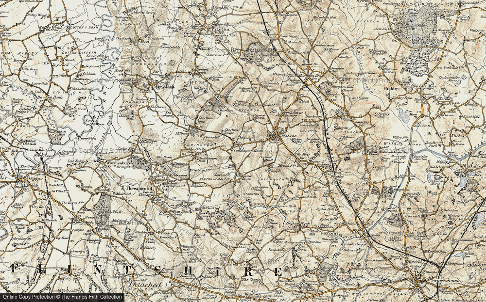 Old Map of Historic Map covering Ashley Court in 1902