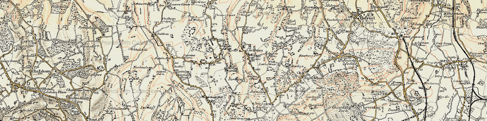 Old map of Cudham in 1897-1902