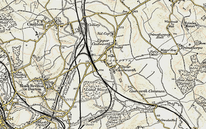 Old map of Cudworth in 1903