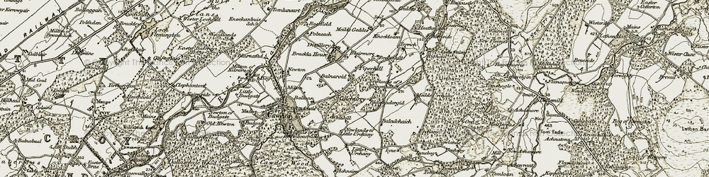 Old map of Tomcluich in 1911-1912