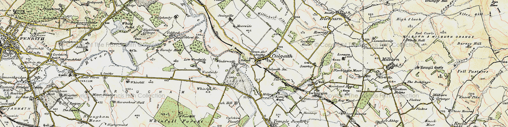Old map of Whinfell Ho in 1901-1904