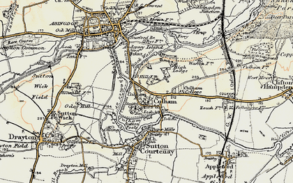 Old map of Culham in 1897-1899