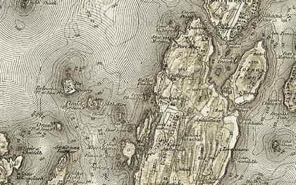 Old map of Bardrishaig in 1906-1907