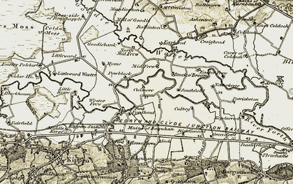 Old map of Wester Frew in 1904-1907