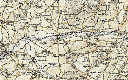 Old map of Culmstock in 1898-1900