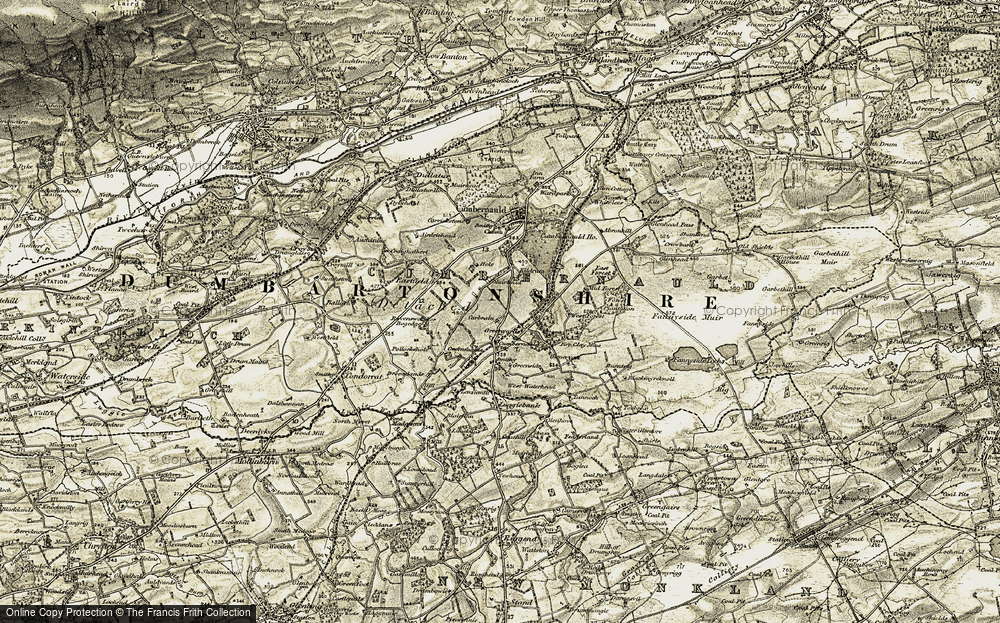 Old Map of Cumbernauld, 1904-1907 in 1904-1907