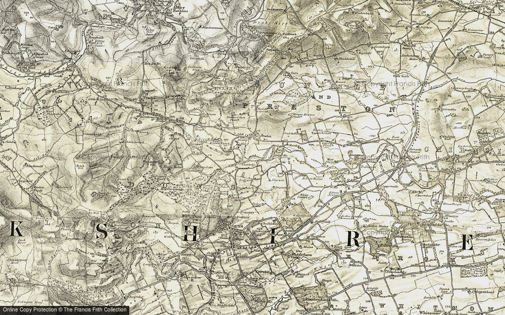 Old Map of Historic Map covering Baramill Plantn in 1901-1904