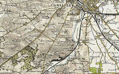 Old map of Cummersdale in 1901-1904