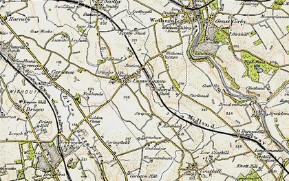 Old map of Wetheral Pasture in 1901-1904