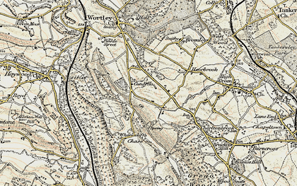 Old map of Wharncliffe Chase in 1903