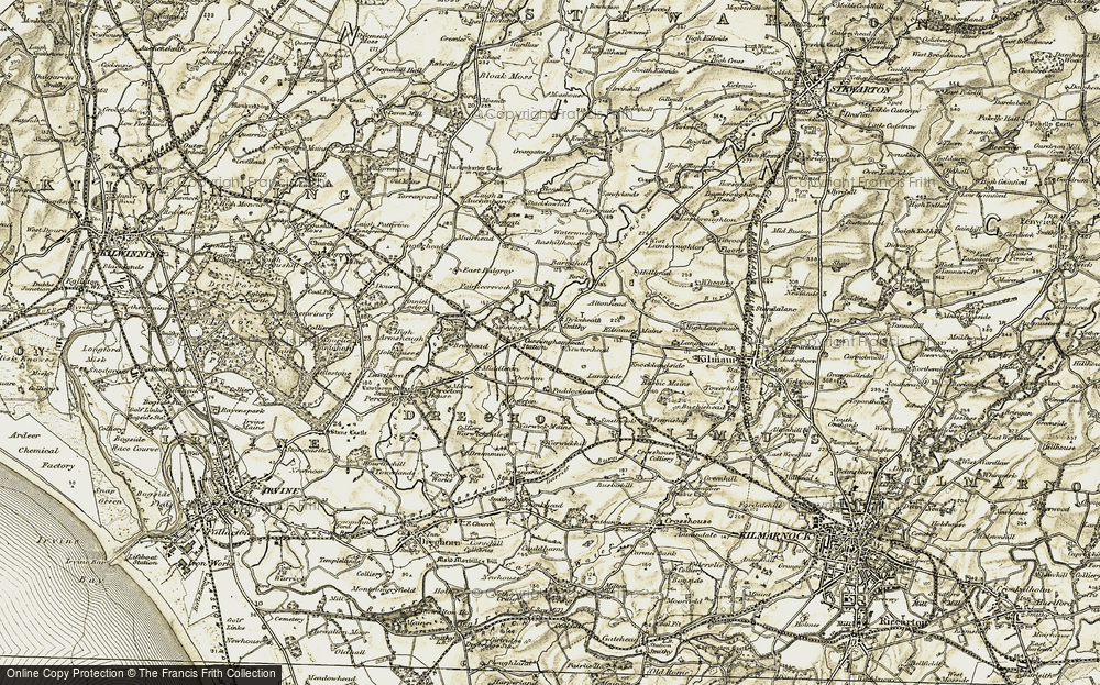 Old Map of Historic Map covering Altonhead in 1905-1906