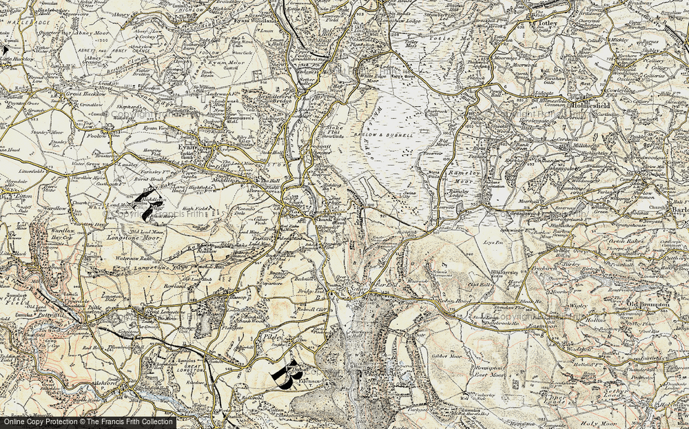 Old Map of Historic Map covering Bar Brook in 1902-1903