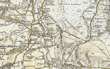 Old map of Bar Brook in 1902-1903