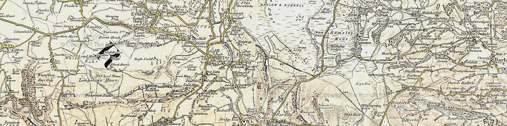 Old map of Curbar in 1902-1903