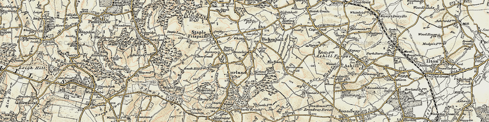 Old map of Whitty in 1898-1900