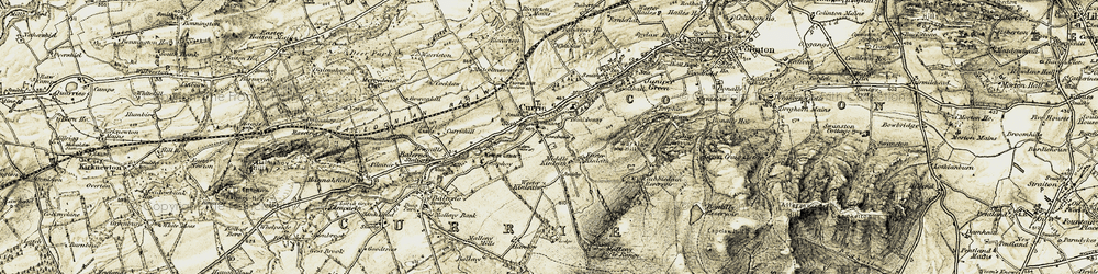 Old map of Wester Kinleith in 1903-1904