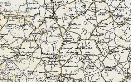 Old map of Apsley in 1897-1898
